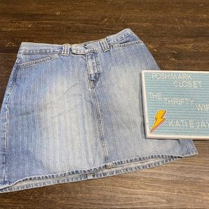 Nautica Vintage 1990s High waist Denim Jean Skirt
